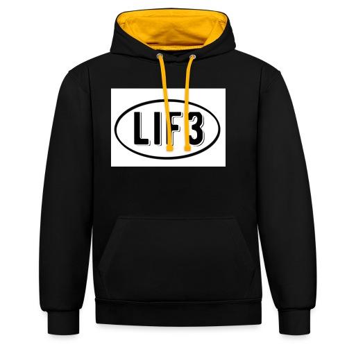 Lif3 gear - Contrast Colour Hoodie