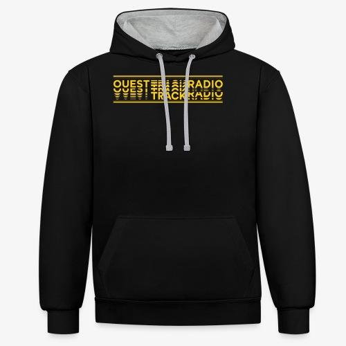Logo Long jaune - Sweat-shirt contraste