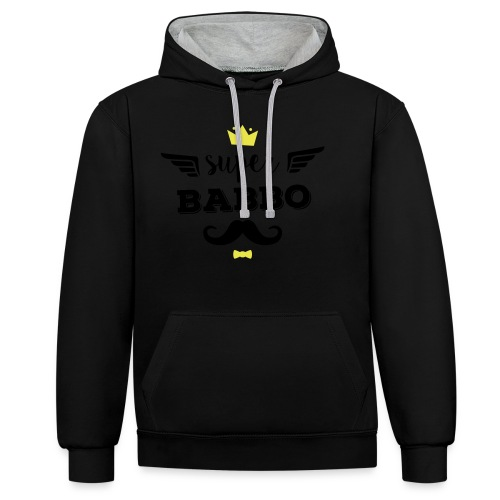 Super Babbo - Felpa con cappuccio bicromatica