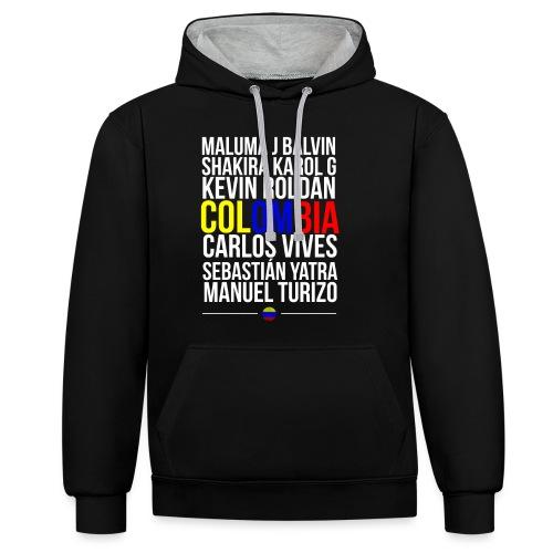 Reggaeton Shirt Kolumbien - Kontrast-Hoodie