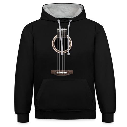 Akustische Gitarre - Kontrast-Hoodie
