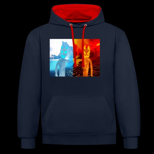 Fire And Ice Battle - Contrast Colour Hoodie