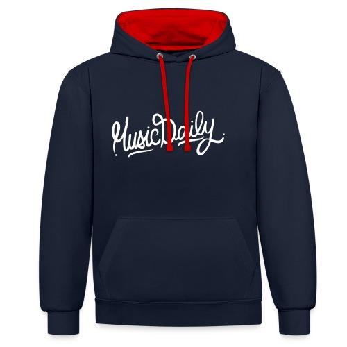MusicDaily Logo - Contrast hoodie
