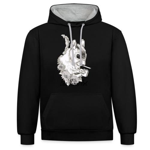 Ecureuil la clope - Sweat-shirt contraste