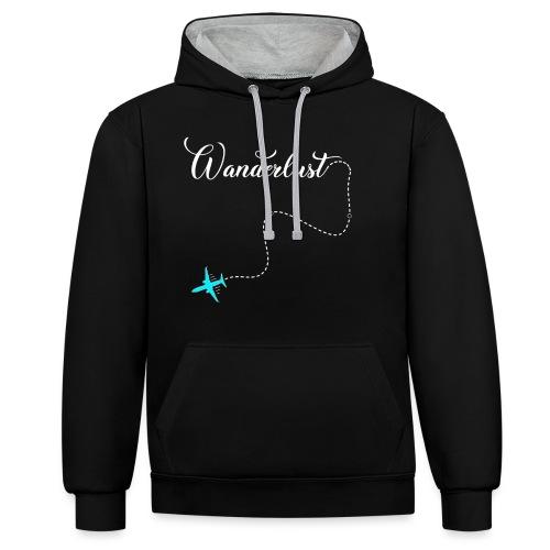 Reisen Weltreise Flugzeug Travelshirt - Kontrast-Hoodie