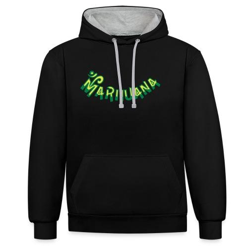 Om Marijuana - Contrast Colour Hoodie