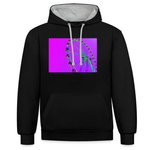 Trippy Ferris Wheel - Contrast hoodie