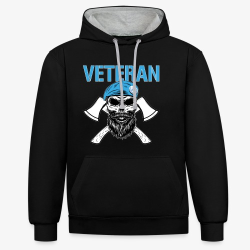 FN-veteran - Korslagda yxor - Kontrastluvtröja