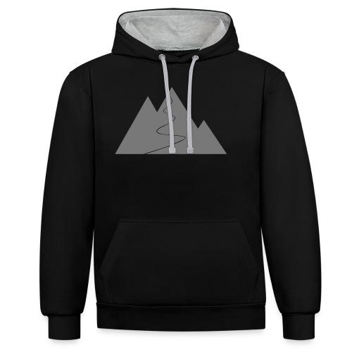 T-Shirt Berge - Kontrast-Hoodie