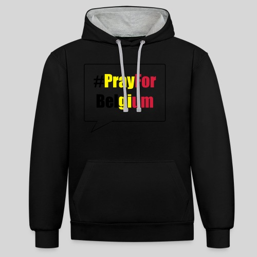 #PrayForBelgium - Sweat-shirt contraste