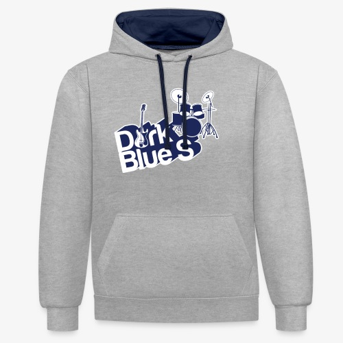 DarkBlueS outline gif - Contrast Colour Hoodie