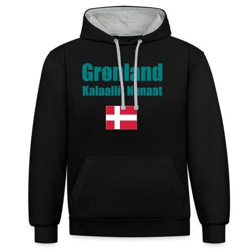 Grønland Expedition - graues Survival Shirt - Kontrast-Hoodie