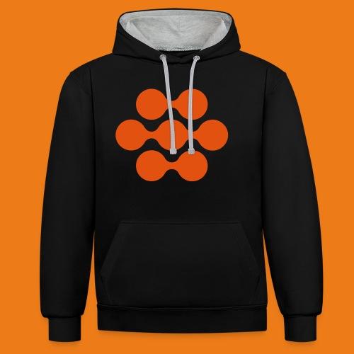 seed madagascar logo squa - Contrast Colour Hoodie