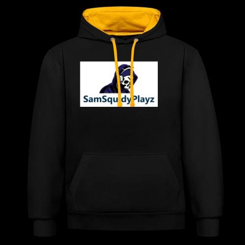 SamSquidyplayz skeleton - Contrast Colour Hoodie