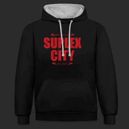 Suplex City Mens T-Shirt - Contrast Colour Hoodie