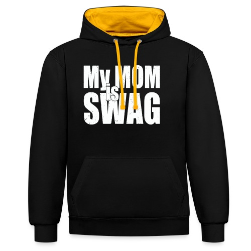 Swag White - Contrast hoodie