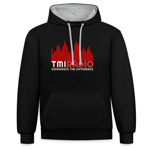 NEW TMI LOGO RED AND WHITE 2000 - Contrast Colour Hoodie