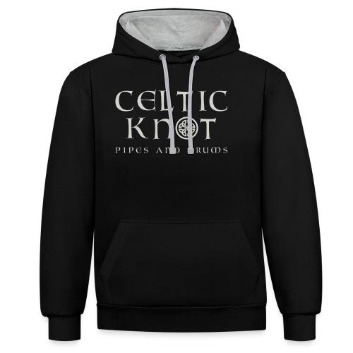 Celtic knot - Felpa con cappuccio bicromatica