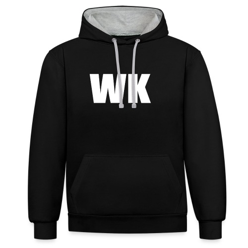 wk sweater - Contrast hoodie