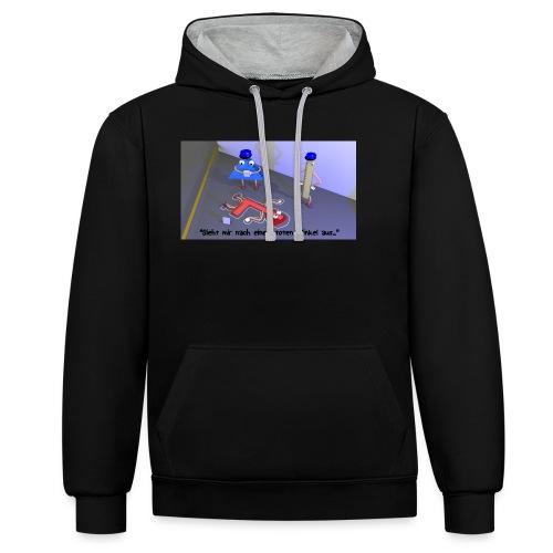 T-Shirt Toter Winkel - Kontrast-Hoodie