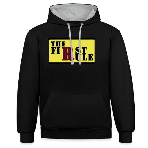 First Rule No Rule - Kontrast-Hoodie
