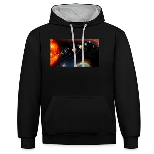 Solsystemet - Kontrast-hættetrøje