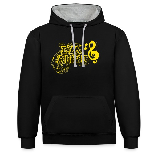 i m alive geel png - Contrast hoodie