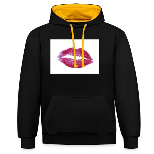 maglia bacio - Felpa con cappuccio bicromatica
