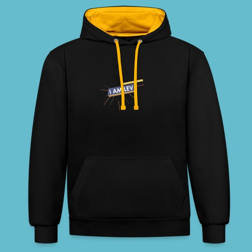 I AM LEV Banner - Contrast hoodie