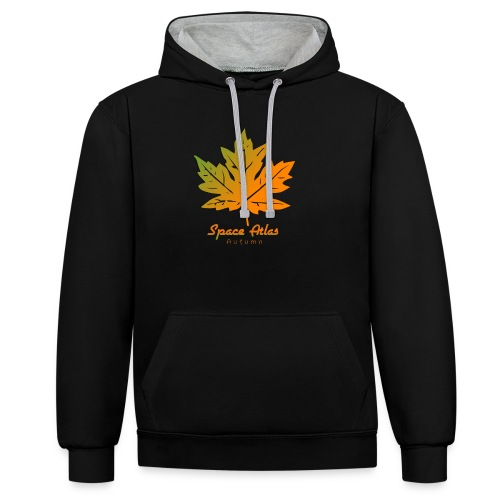 Space Atlas Long Sleeve T-shirt Autumn Leaves - Kontrast-hættetrøje