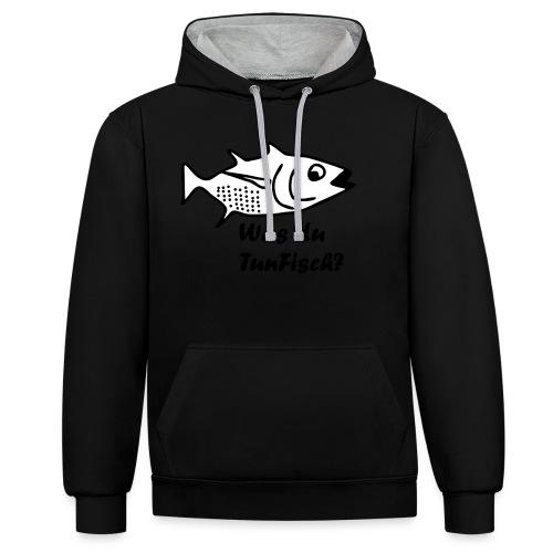 Was du tun Fisch? - Kontrast-Hoodie