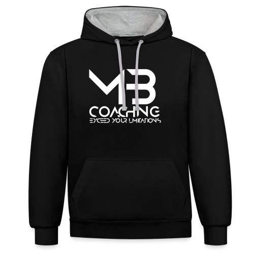 mb coaching log0 - Contrast Colour Hoodie