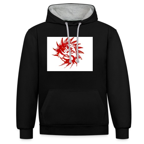 A RED SUN - Contrast Colour Hoodie