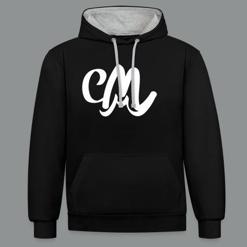 Sweater Unisex (voorkant) - Contrast hoodie