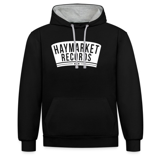 haymarketWHITE - Contrast hoodie