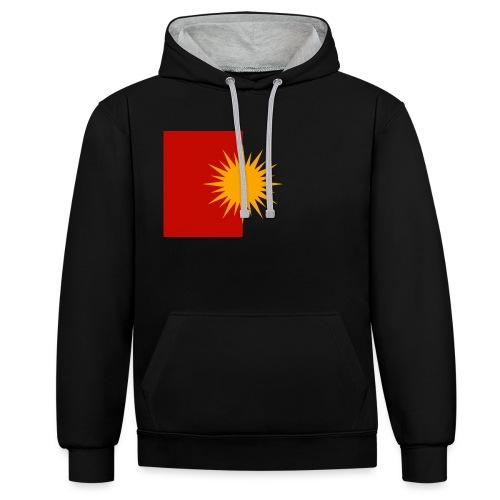 Yeziden T-Shirt Ezidi,Shingal,Şingal - Kontrast-Hoodie