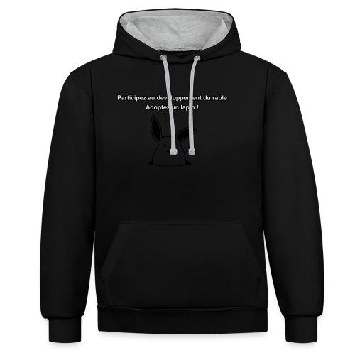 adoptez un lapin ! - Sweat-shirt contraste