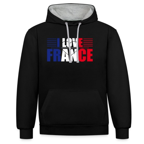 love france - Sweat-shirt contraste