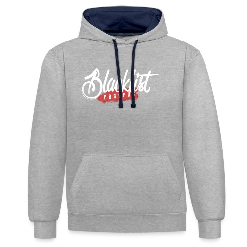 Blacklist Records - Casquette (Logo Blanc) - Sweat-shirt contraste