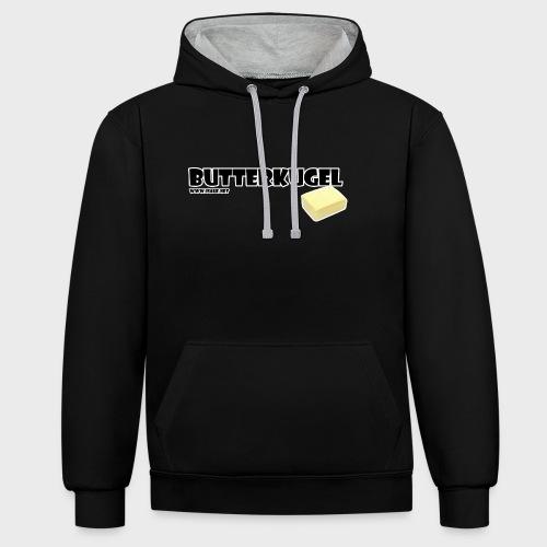 Butterkugel - Kontrast-Hoodie