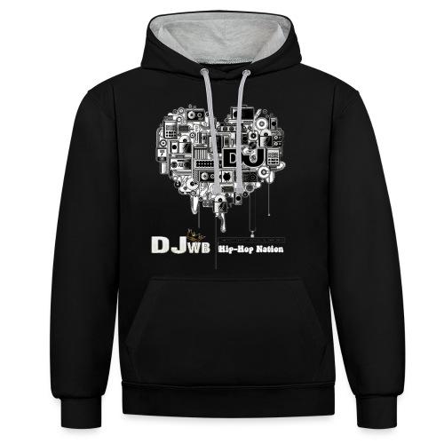 Design Music DJ WB Hip Hop Nation - Sweat-shirt contraste