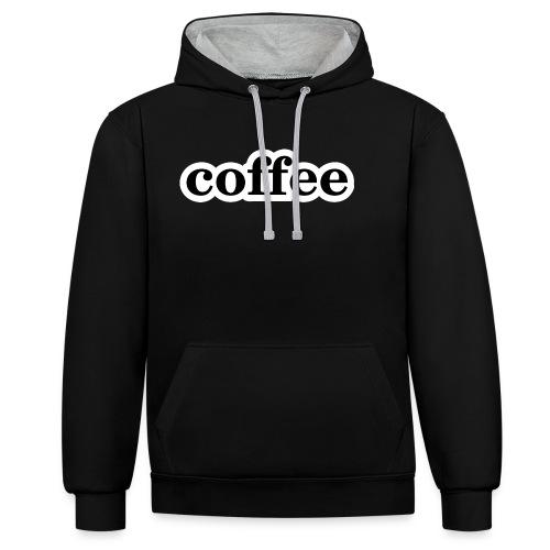 Kaffee - Kontrast-Hoodie
