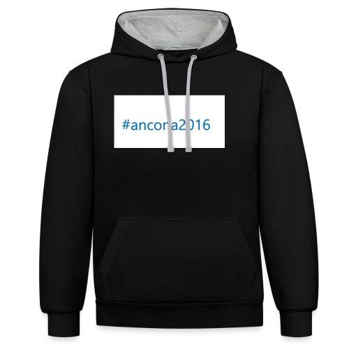#ancona2016 - Sudadera con capucha en contraste