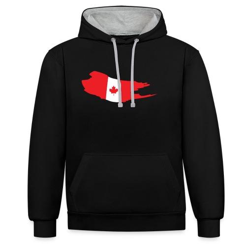Canada Flag - Sudadera con capucha en contraste
