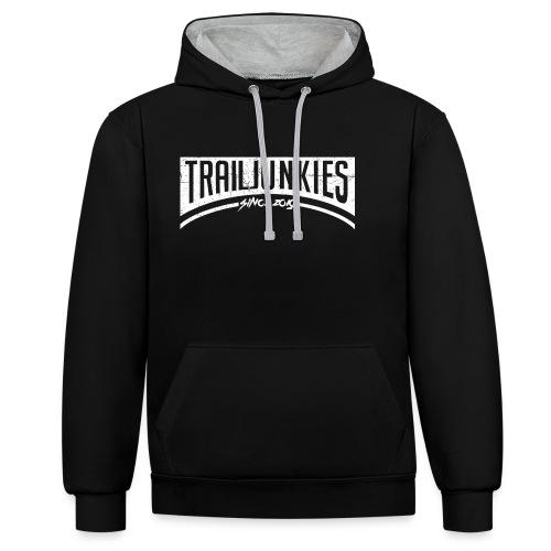 Trailjunkies2019 White - Kontrast-Hoodie