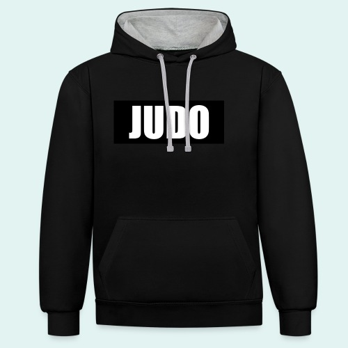 Judo Schwarz DAN - Kontrast-Hoodie