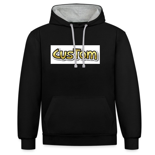 CusTom GOLD LIMETED EDITION - Contrast hoodie