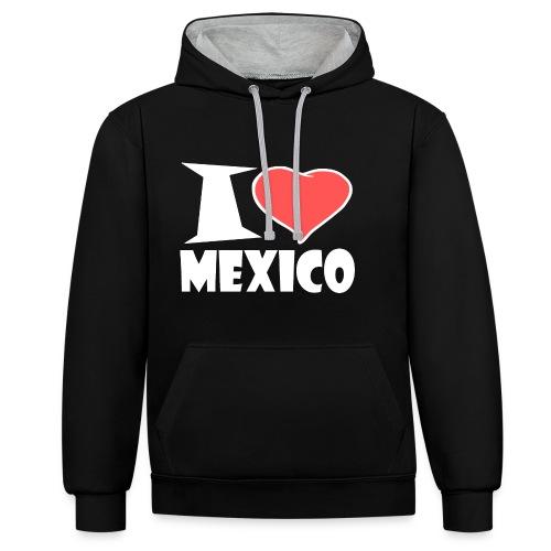 I love Mexico - Kontrast-Hoodie