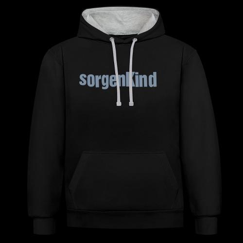 Sorgenkind - Kontrast-Hoodie