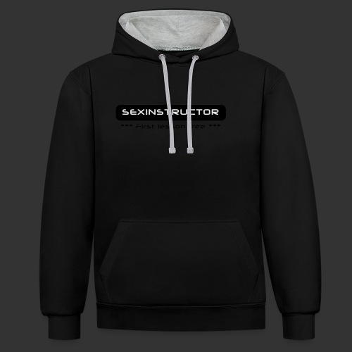 Sexinstructor - first lesson free - Kontrast-Hoodie